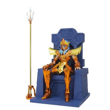 Poseidon Julian Solo + Set Throne Imperial - Myth Cloth EX - Saint Seiya - 18cm