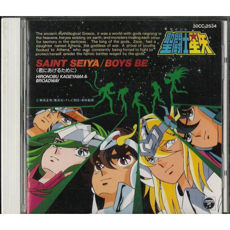 Saint Seiya - CD Audio - Boys Be