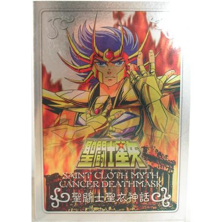 """Gold - Cancer Masque de Mort - Plaque """"Metal Mat"""" Bandaï HK"""